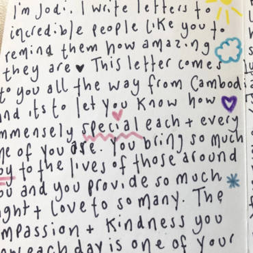 A Lovely Letter of Positivity for the New School Year!
