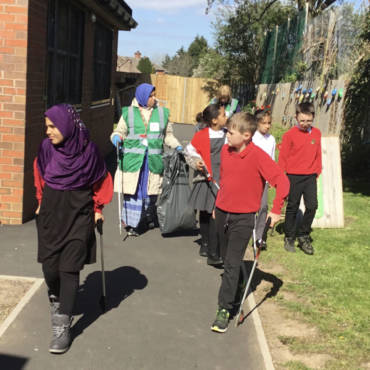 Eco council litter picking